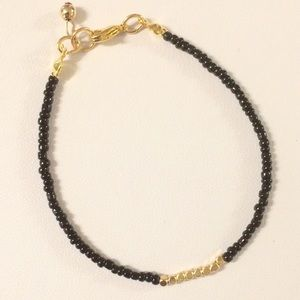 Jewelry - Gold, black bracelet